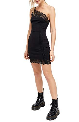 Intimately Free People Womens Lace Trim Short Bodycon Dress Black XS