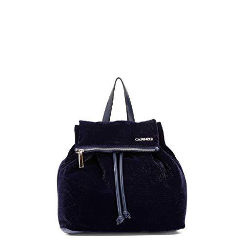 CAF Noir BR001 blau Rucksack Tasche aus weichem Samt Rucksack Frau birllantini