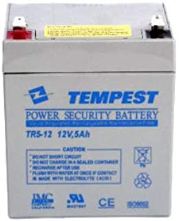 TEMPEST BATTERY 12v 5ah TR5-12 Sealed Lead Acid Rechargeable Battery