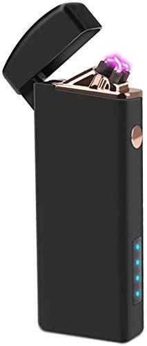 Tenfel 電子ライター USB 充電式 プラズマ ターボライター 小型 防風 スパック点火 ライター 電池残量表示 男女兼用 電気ライター [並行輸入品]