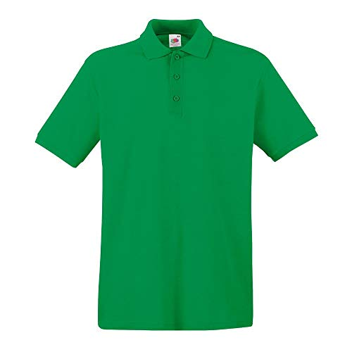 Fruit of the Loom - Premium Poloshirt / Kelly Green, XL