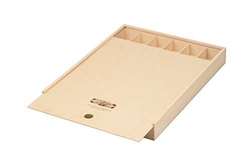Koh-I-Noor Caja de madera con tapa corredera, grande, para lápices, Pinceles, portaminas, etc.
