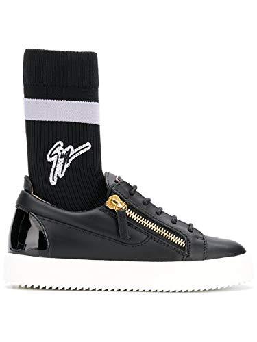 Giuseppe Zanotti Luxury Fashion Design Damen RW80036001 Schwarz Leder Sneakers | Jahreszeit Outlet