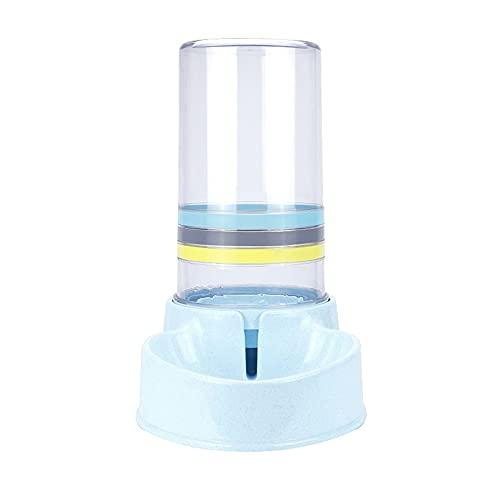 HFDGDFK Automatische Futterautomaten Katzen mit großer Kapazität Wasserbrunnen Kunststoff Hundewasserflasche Futterschalen Wasserspender (Color : Blue)