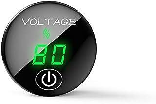 YGL DC 5V-48V Medidor de Voltaje LED Pantalla de Capacidad de Batería Voltímetro con Interruptor ON Off para Coche Moto(Verde)