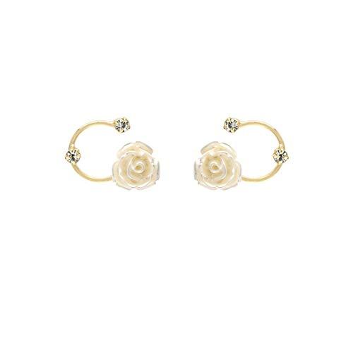 Taek-cheon Vintage French Style Light Lighty Flowers S925 Agujas de Plata, Pendientes de Diamantes, Un Gran Regalo para Hermanas, Madres y Amigos