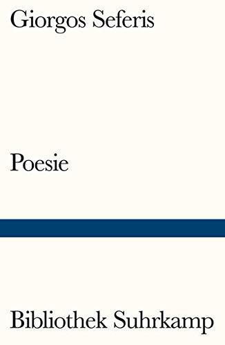 Poesie: Gedichte (Bibliothek Suhrkamp)