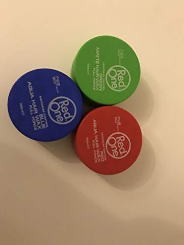 RedOne, Matte Hair Wax, Green,Red,Blau 150 ml X 3