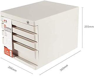 WHLONG Dépôt en Plastique Cabinet de PC de Bureau Dossier Armoire de Rangement d'affaires Panier Papeterie tiroirs Boîte d...