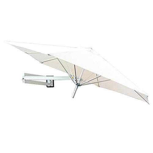 LY88 Parasol met wandmontage, parasol voor parasol met balkon voor buiten, aluminium stang, Ø 7 m