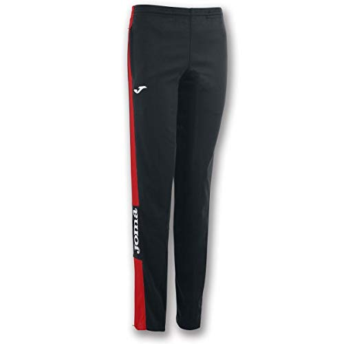 Joma Champion IV Pantalon Largo Deportivo, Niñas, Negro-Rojo, 2XS