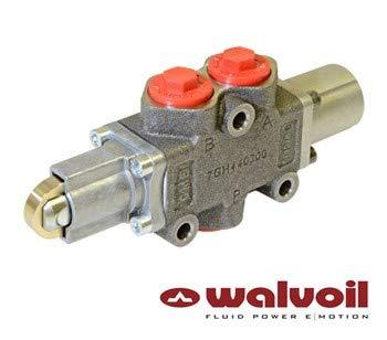 Walvoil manuelles Umstellventil, 3-Wege, 3/8-Zoll-BSP-Anschlüsse, Cam-gesteuert