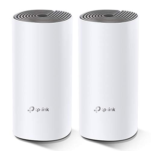TP-Link Deco E4 Whole Home WiFi Mesh System, Seamless and Speedy(AC1200) for Medium Home, Work with Amazon Echo/Alexa and IFTTT, Router and WiFi Booster Replacement, Parent Control, Pack of 2