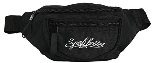 Bauchtasche Gürteltasche schwarz Spaß kostet Logo Label mit 3 Fächern