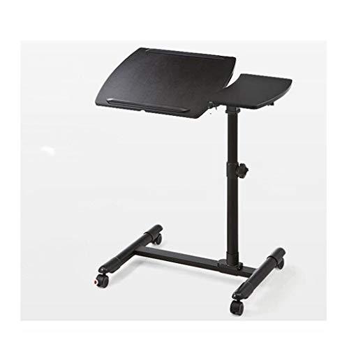 LIN HE SHOP Bureau d'ordinateur Simple de carnet, Bureau d'apprentissage de Levage de Chevet Mobile de ménage (Couleur : Noir)