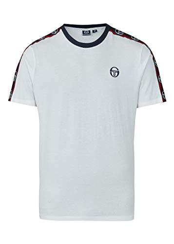Sergio Tacchini - Maglietta da uomo DAHOMA SAM9238315, grigio mel Navy bianco/blu 3XL