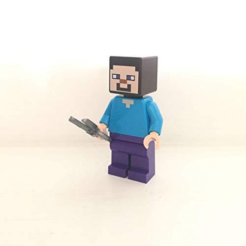 maisterkaio-de Lego Figur Steve mit Schere -- Minecraft -- (aus Set 21153, mit anderem Lego Kompatibel)