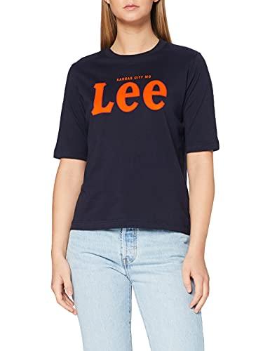 Lee tee Camiseta, Azul (Midnight Navy MA), Medium para Mujer
