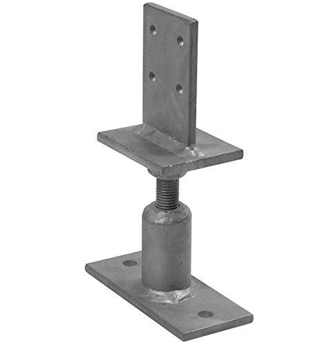 1 Stück profiBAUline Pfostenträger T-Form höhenverstellbar 110-160