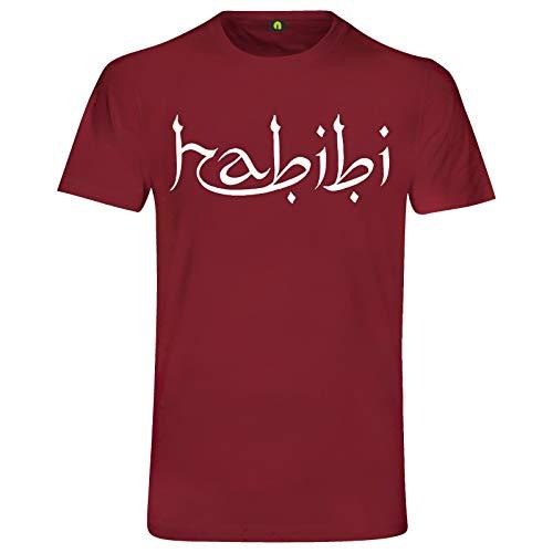 Habibi T-Shirt | Habibti | Geliebter | Liebling | Freund | Araber | Türkei Bordeaux Rot S
