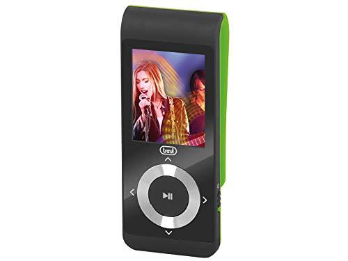 Trevi MPV 1728 SD Lettore Mp3 con Micro SD Card Inclusa, Movie Player, Batteria Ricaricabile, Clip per Uso Sportivo, Verde