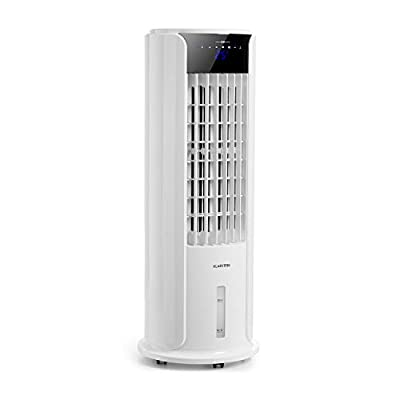 Klarstein Skyscraper Horizon - 3-in-1 Air Cooler, 3-in-1: Fan, Air Cooler & Humidifier, 60 W, Air Flow: 486m³ / h, 3 Speeds, 3.5L Water Tank, 8-Hour Switch-Off Timer, Includes Remote Control