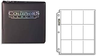 Ultra Pro Value Pack: One Black Ultra Pro Collector's Album D-Ring Binder with 25 9 Pocket Pages