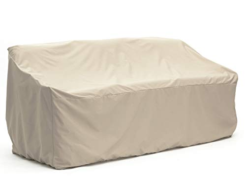 Covermates – Outdoor Patio Sofa Cover – Heavy Duty Material – Water and Weather Resistant – Patio Furniture Covers - Khaki