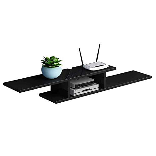 Étagère de rangement murale pour meuble de télévision à plateau flottant pour composants de télévision, console multimédia en bois, supports de rangement, 2 niveaux, pour câble