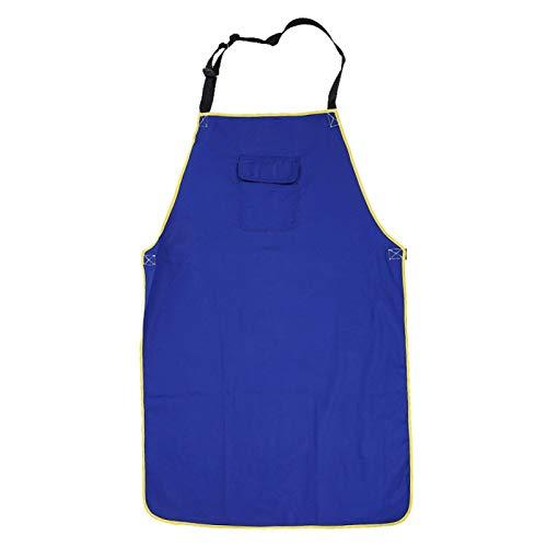 Delantal de trabajo de seguridad, delantal de soldadura lavable resistente al desgarro duradero, accesorio de soldador azul para cortar soldadura