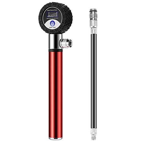 Bomba Inflable de la Bicicleta de Alta presión de 120 PSI Pantalla Digital portátil de la Bicicleta del neumático del neumático del neumático para la válvula Americana/Presta (Color : 2)