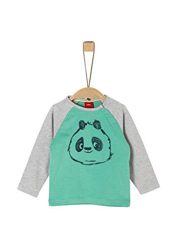 s.Oliver Junior 405.10.002.12.130.2019242 T-Shirt, Baby - Jungen, Grün 62 EU