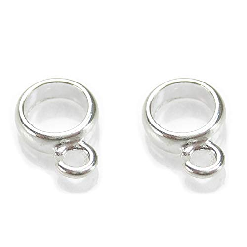 Pack of 2 CHARM CARRIERS dangle-holder-bail 925 sterling silver
