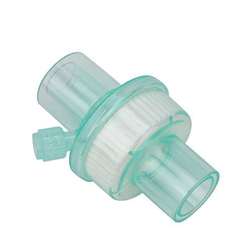 Caiqinlen Filtro, máquina de respiración Verde Filtro Transparente Transparente para Equipos de Aislamiento y filtración para Circuito respiratorio de anestesia(Green Filter) ⭐