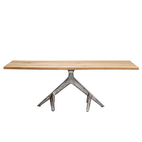 Kare design - Table à manger 220 cm bois clair et acier ROOTS