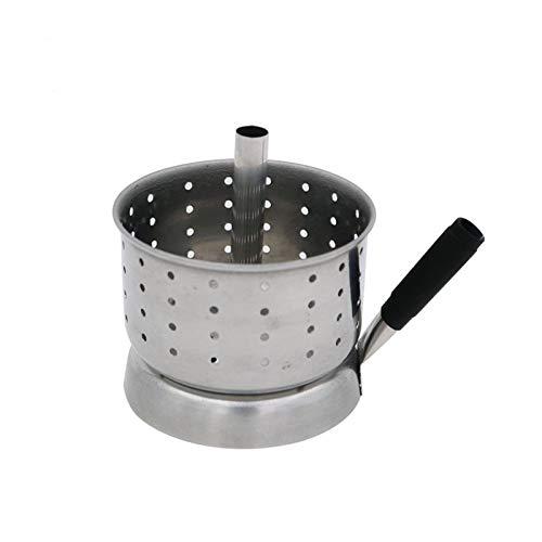 XIAOFANG Nueva Plata Shisha Hookah Charcoal Holder Alay Fit para Chicha Bandeja Sheesha Bowl Shisha Hookah Bowl System System Silver (Color : Silver)
