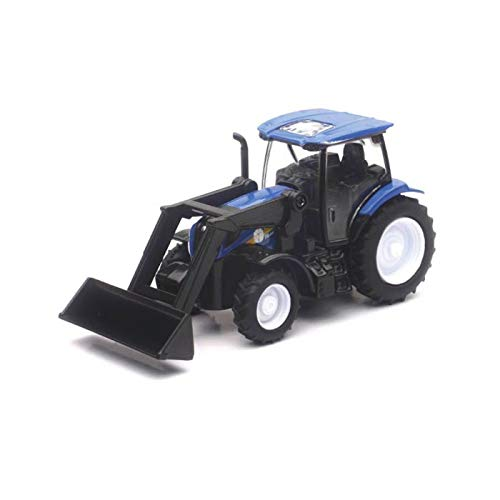 New-Ray Toys 32123 Die Cast New Holland Farm Tractor T6 with Loader Blue