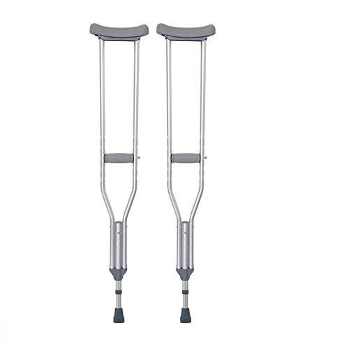 crutch Ältere Krücken Achselkrücken leicht, rutschfest, höhenverstellbar