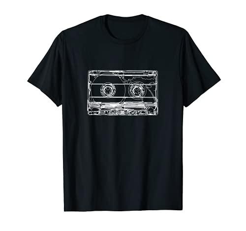Retro Musik Kassette Skizze Vintage...