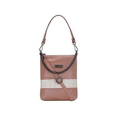 ESBEDA Peach Color Twill Slingbag For Women