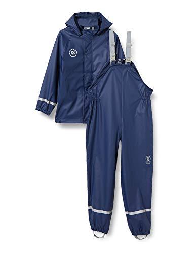 Color Kids Boys Set Recycled Rain Jacket, Dress Blues, 116