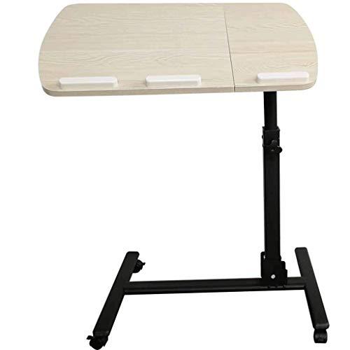 TYUIO Swivel Wheel Rolling Tray Table - Verstellbarer Nachttisch für Zuhause, Krankenhaus - Über Bett Laptop, Lesen, Essen Frühstück - Niedrig Hochkarre - Bedridden, Ältere, Senior Patient Aid
