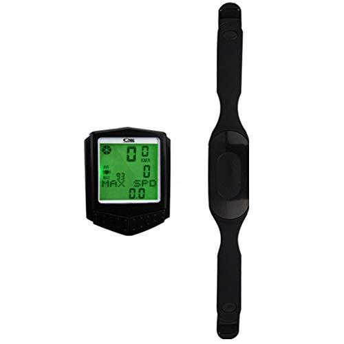 H-LML Digital-Fahrrad-Computer-Fahrrad-Wireless-Tachometer mit Hintergrundbeleuchtung mit Stoppuhr-Entfernungsmesser-Fahrrad-Computer-wasserdicht Wireless-Entfernungsmesser