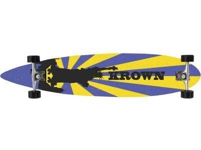 Krown Longboard Komplettboard Skateboard Liberty Pintail Longboard Complete