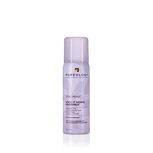 Pureology Style + Protect Lock It Down Hairspray | For Color-Treated Hair | Maximum Hold & Radiant Shine | Silicone Free | Vegan | Updated Packaging | 2.1 Oz. |