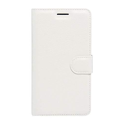 Nuevo for Lenovo VIBE K5 Litchi Texture Horizontal Flip Funda de cuero genuino con soporte y ranuras for tarjetas y billetera (Negro) Shiningxie (Color : White)