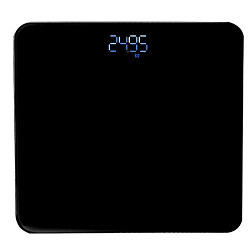Body Weight Scale Electronic Body Scale with G-shaped Sensor Smart Body Scale Highly Accurate Body Weight Scale with Lighted Display USB Household Body Fat Scale(black)