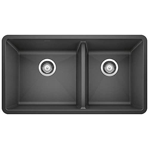 Big Sale Best Cheap Deals Blanco 441128 16-Inch Précis 1-3/4 Bowl Sink, Anthracite