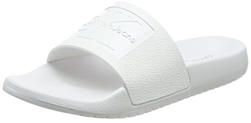 Calvin Klein Jeans Damen Christie Jelly Peeptoe Ballerinas, Weiß (Wht 000), 40 EU