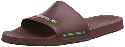 Havaianas Slide Brasil, Sandalias deslizantes Unisex Adulto, Granate, 45/46 EU